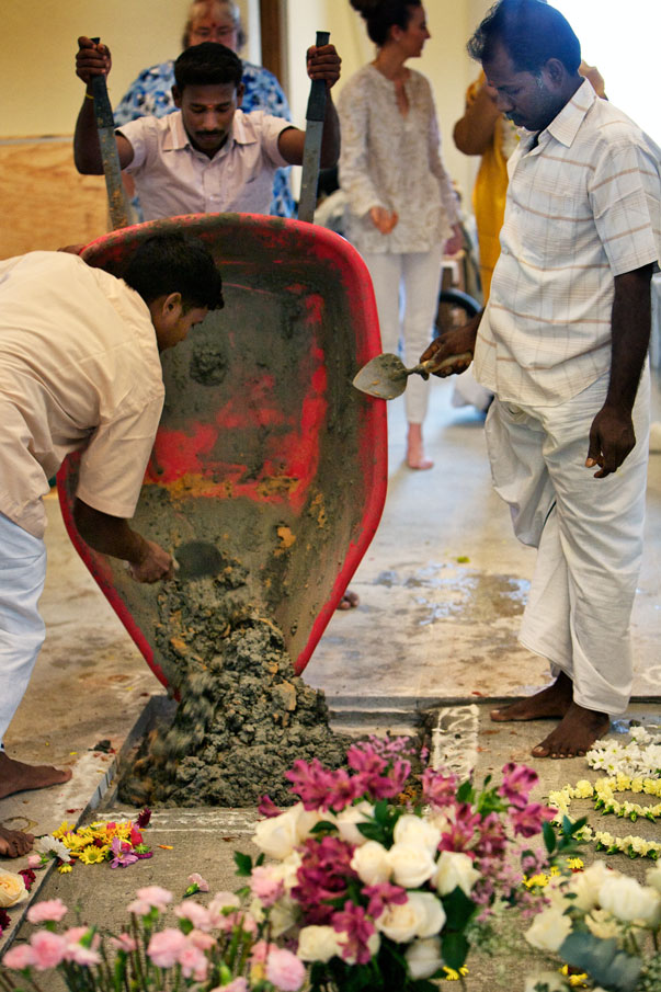 Sealing the offering site.
