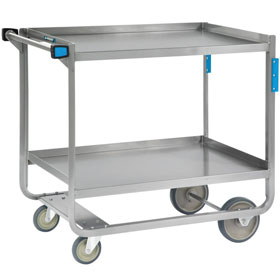 Two Large, Heavy-duty Busing Carts